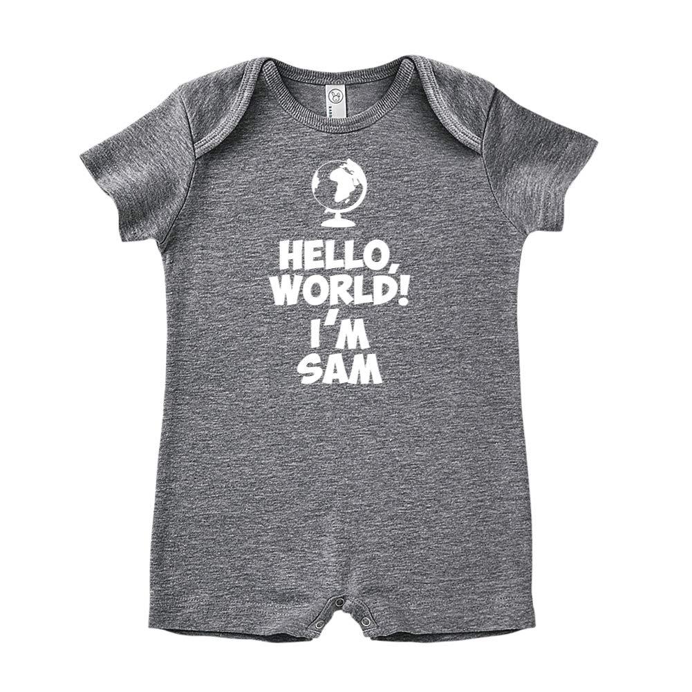 Hello Personalized Name Baby Romper World Im Sam
