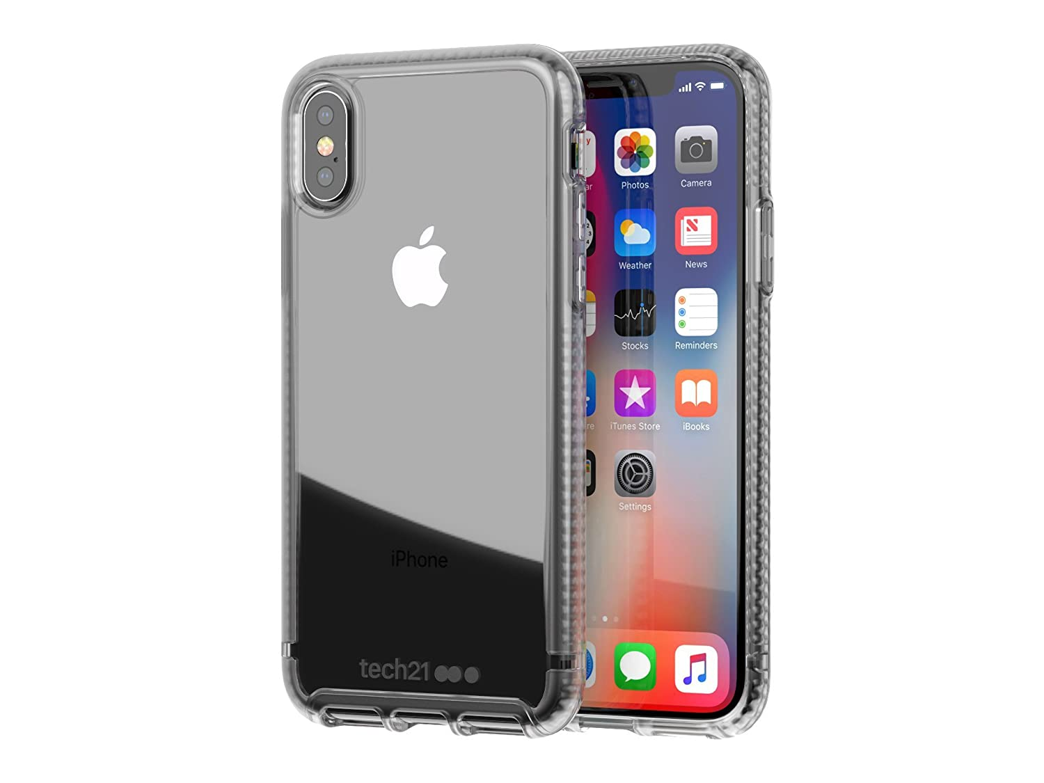 on sale 4289a e2f88 tech21 - Phone Case Compatible with Apple iPhone X - Pure Clear - Clear