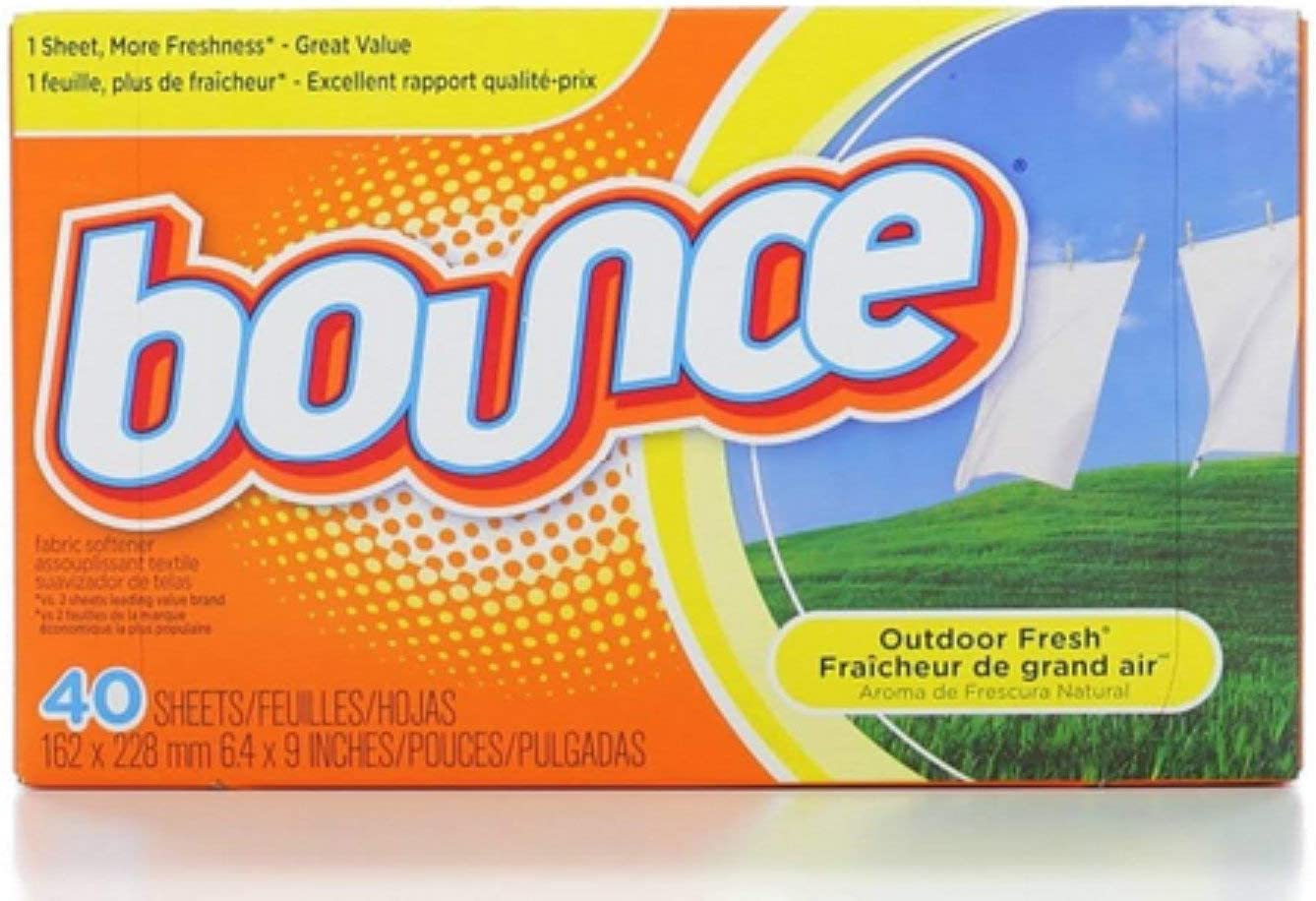 Bounce Fabric Softener Sheets, Outdoor Fresh 40 ea (Pack of 5)