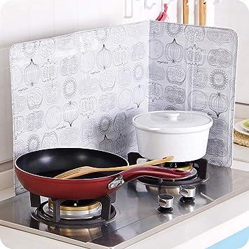 MaxFox - Placa de Aluminio Plegable para hornillo de Aceite, Placa de Aluminio para Evitar Salpicaduras de cocción: Amazon.es: Hogar