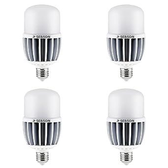 SEBSON® 4x E27 30W LED (Equivale de 150W, Calido Blanca, 2400lm,