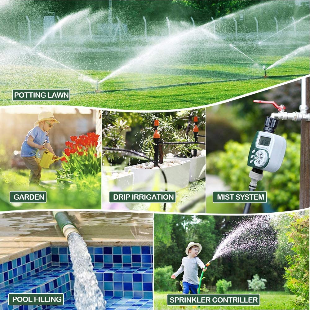 Innoo Tech Digital Water Timer, 2020 Upgrade Programmable Faucet Watering Timer with Huge LCD Display, Waterproof Automatic Sprinkler Controller for Garden Yard Lawn Drip Irrigation Watering System: Home & Kitchen