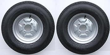 Un par de ruedas para remolque con neumáticos de 6 capas y diámetro primitivo de 100
