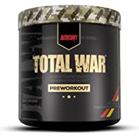 Redcon1 Total War PreWorkout - 30 Servings, Boost Energy, Increase Endurance and Focus, Beta-Alanine, 350mg Caffeine…