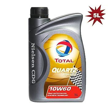 Total Quartz Racing 10W-60 - Aceite para motor de coche (5 x ...