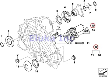 Actuator BMW Genuine Transfer Case Motor With Resistor And Bolts X5 3.0si X5 3.5d X5 4.8i X5 M X5 35dX X6 35iX X6 50iX X6 M Hybrid X6