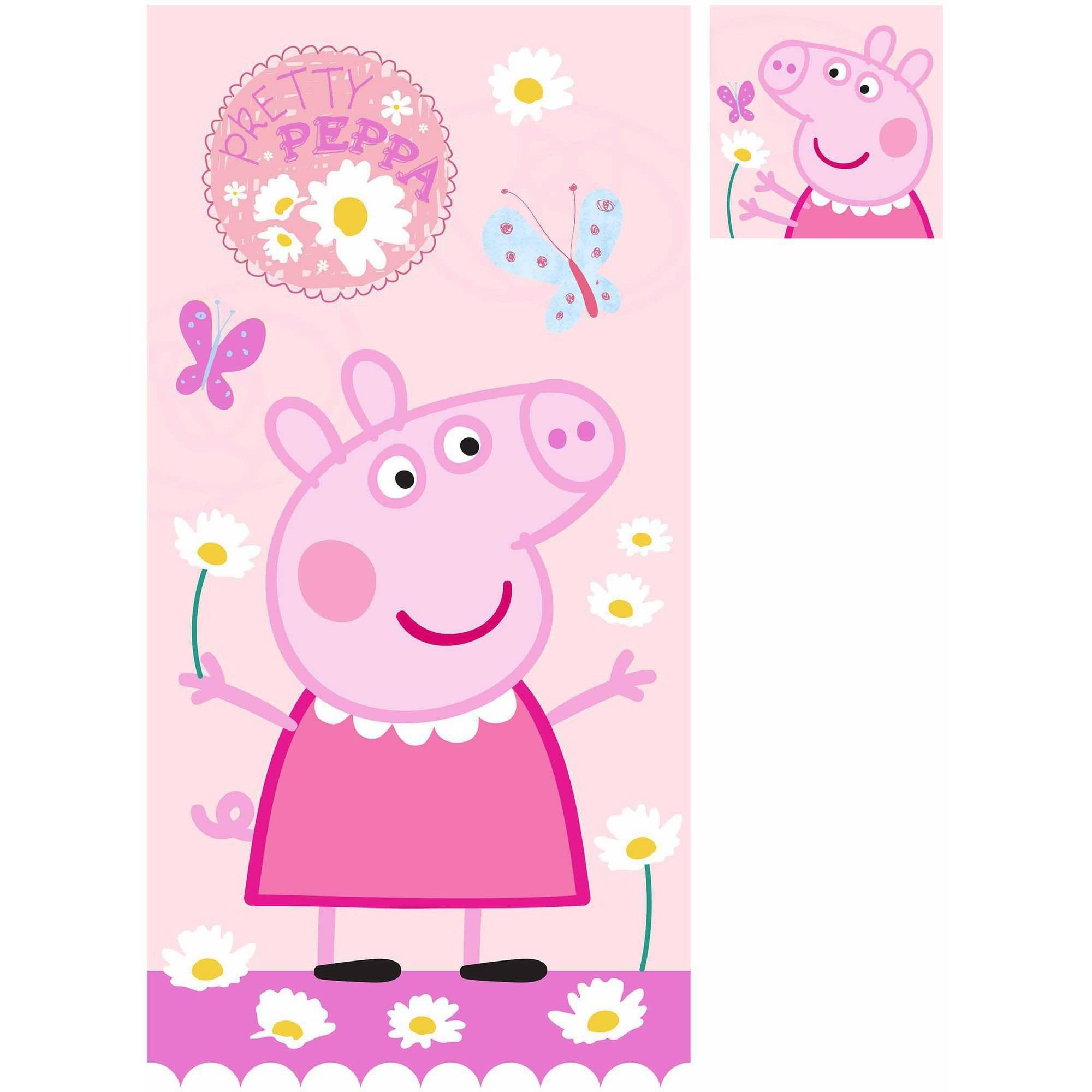 Peppa Pig 2 Piece Bath Set/bath Towel and Wash Cloth