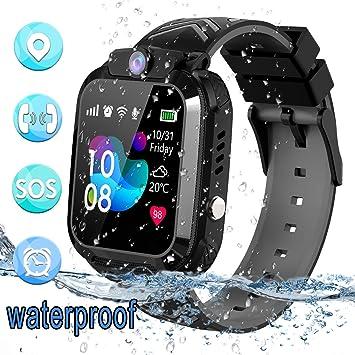 bhdlovely Smartwatch Niños Reloj GPS/LBS a Prueba de Agua - Reloj Infantil Reloj Digital Reloj Despertador SOS Reloj Inteligente para Niños de Edad ...