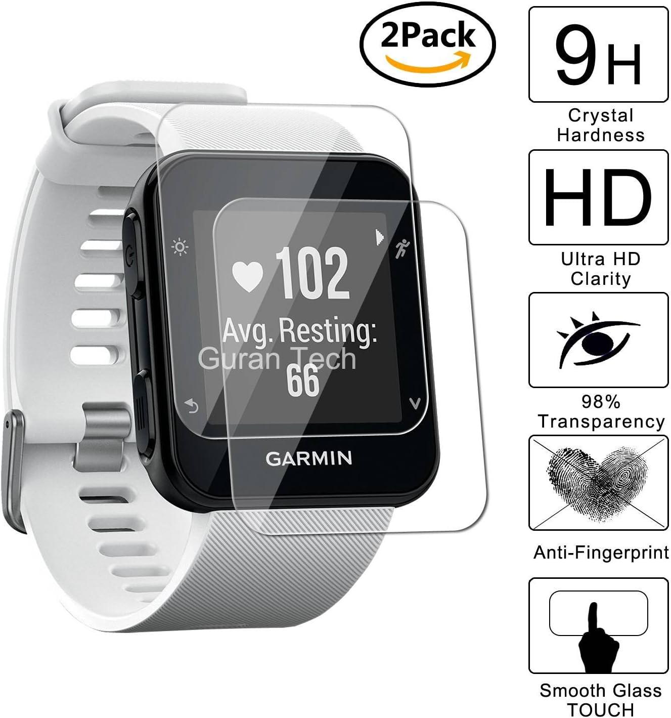Guran [2 Pack] Protector de Pantalla Vidrio Cristal Templado Para Garmin Forerunner 35 Smartwatch Cristal Vidrio Templado Film: Amazon.es: Electrónica