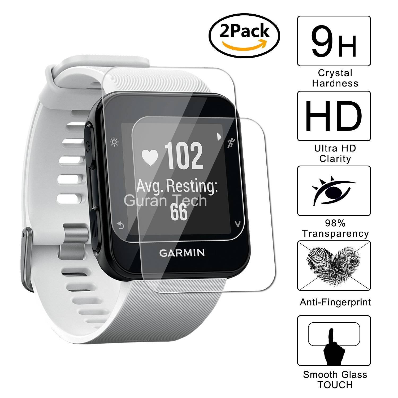 Guran [2 Pack] Protector de Pantalla Vidrio Cristal Templado Para Garmin Forerunner 35 Smartwatch Cristal Vidrio Templado Film