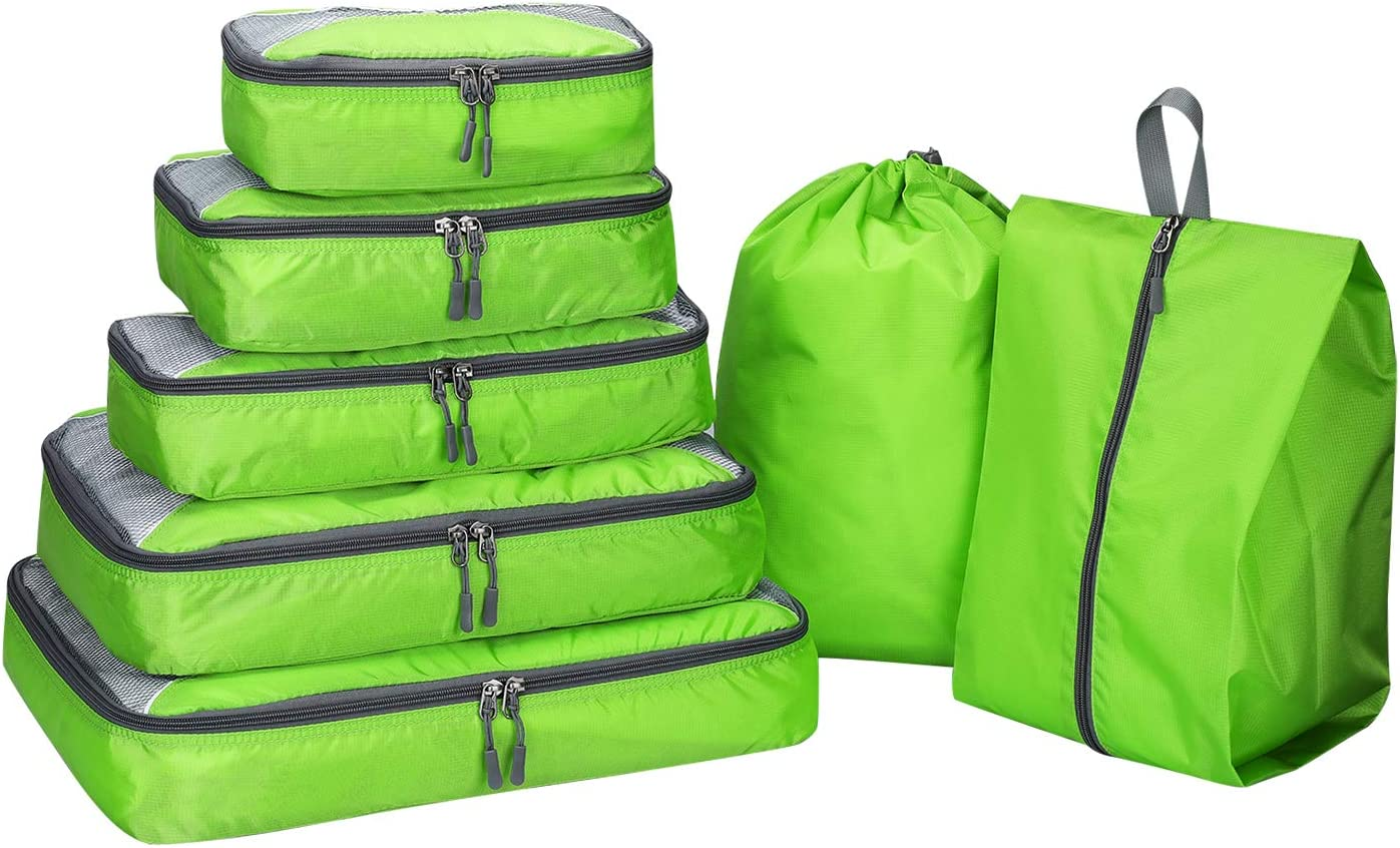 Packing Cubes 3/6/7pcs,G4Free Travel Luggage Organizers Packing Bags Set with Shoes Bag