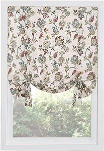 "Renaissance Home Fashion Colette Printed Drape Shade, 44"" x 63"", Jewel"