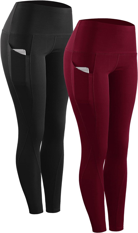 LUNIWEI High Waist Out Running Yoga Pants Tummy Control Workout Gym 4 Way Stretch Yoga Leggings Trouser