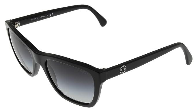 Chanel Sunglasses Women Black CH5266 C501S6 Wayfarer: Amazon.co.uk ...