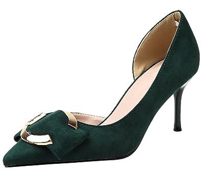 Dorsay High Heels Damen Spitze Zehen Pumps Elegant Stiletto Kleid Pumps