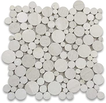 Moleanos Beige Limestone Hexagon Tile 6 inch Polished