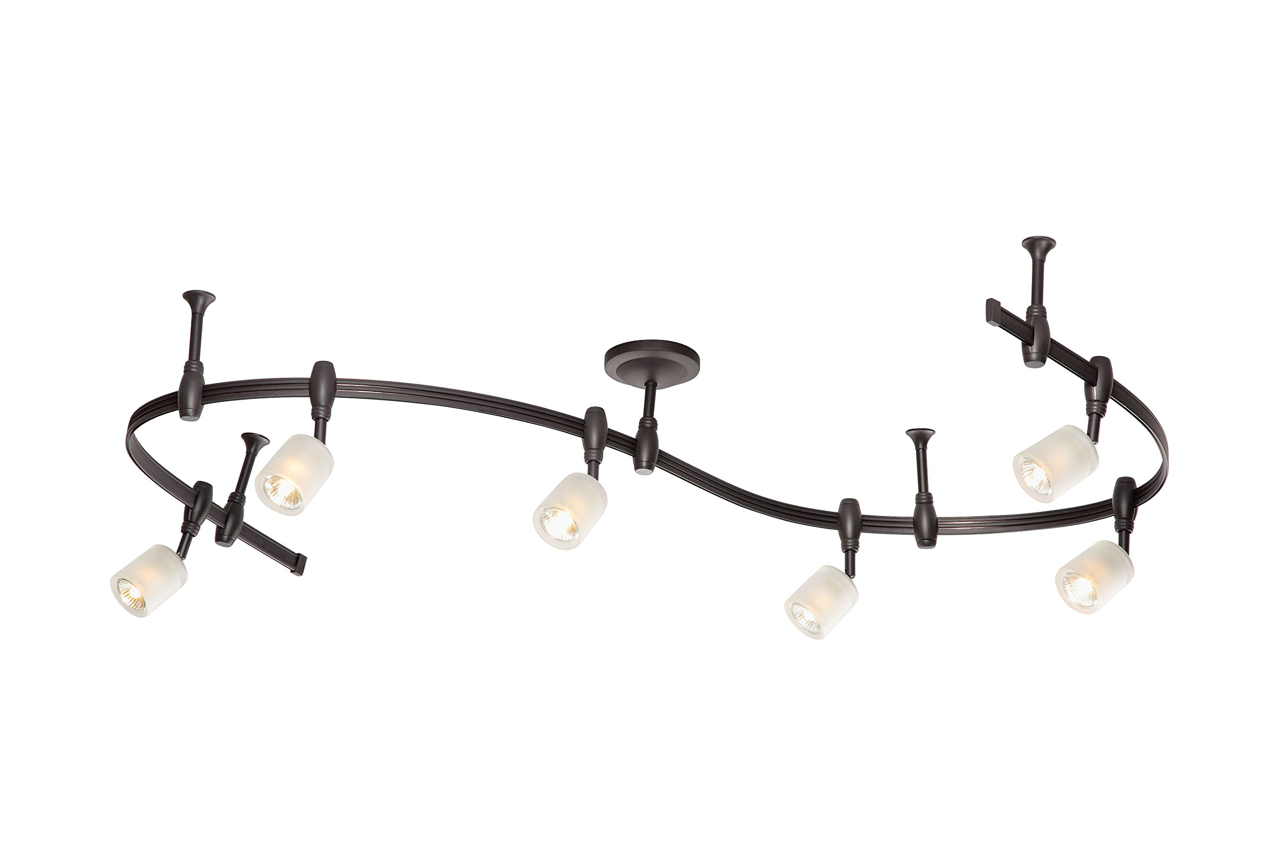 Catalina Lighting 19657-001 Benny 6 Bullet Flex Rail Track Lighting Kit, 96'', Bronze by Catalina Lighting