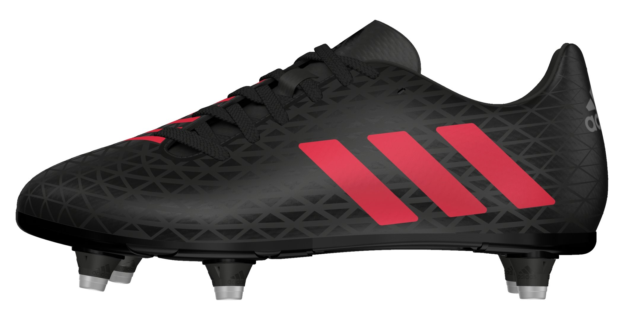 adidas AW16 Malice SG Junior Rugby Boots - Black/Shock Red - Black/Red - UK 3