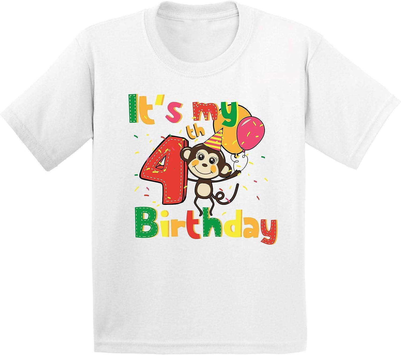 Awkward Styles 4th Birthday Toddler Shirt Cute Monkey Birthday Shirt Gifts for 4 Year Old 716NuLOewzL