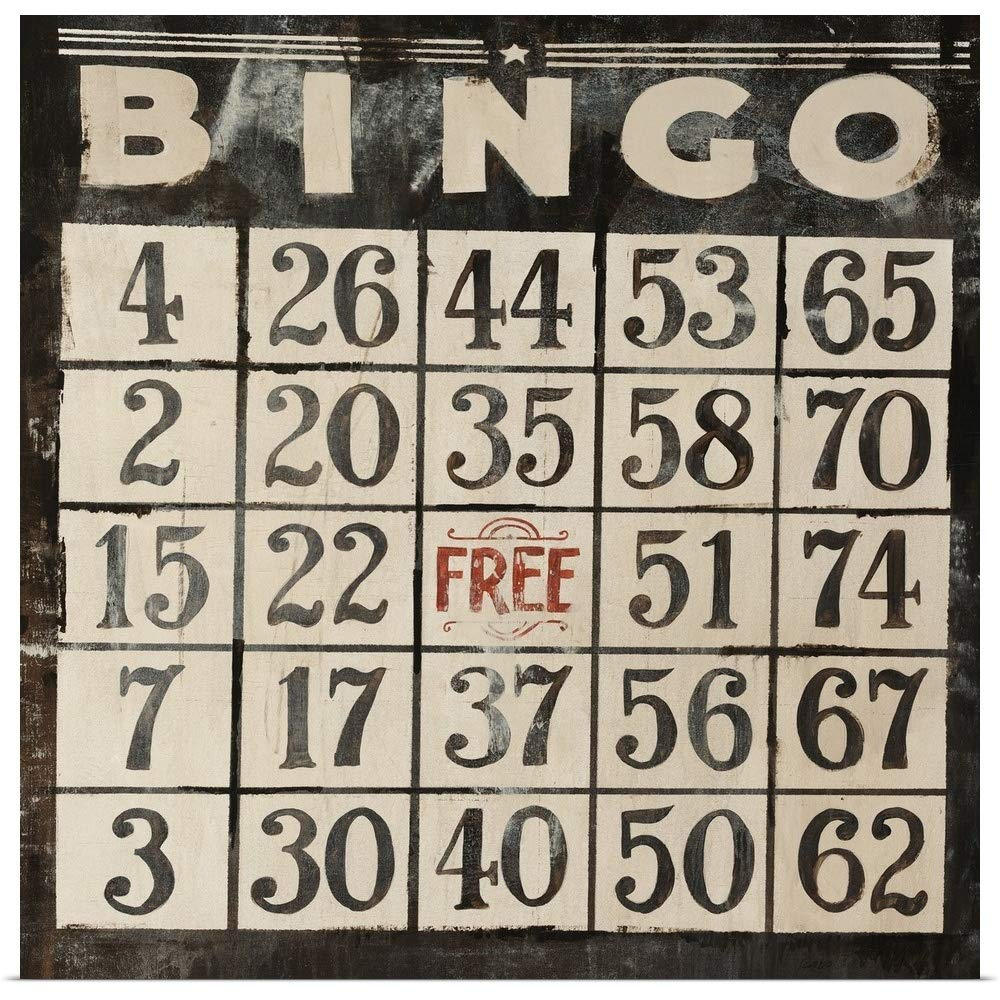 greatBIGcanvas Poster Print Entitled Bingo Clayton Rabo 16''x16'' by greatBIGcanvas