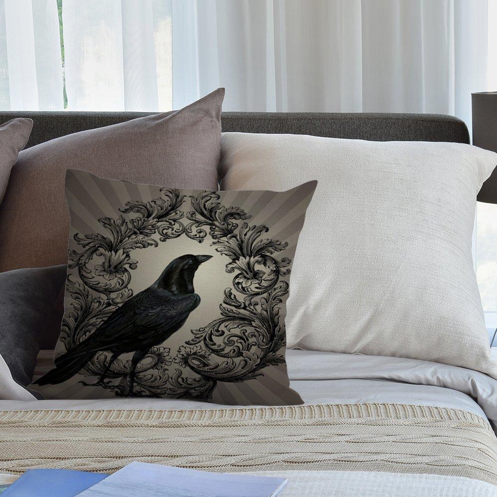 Amazon.com: HGOD DESIGNS Funda de almohada de algodón y lino ...