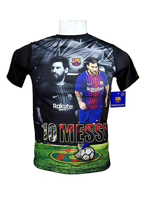 1cf39e32f FC Barcelona Messi Number 10 Official Youth Soccer Signature Performance  Poly Jersey Rhinox-Y004 Large
