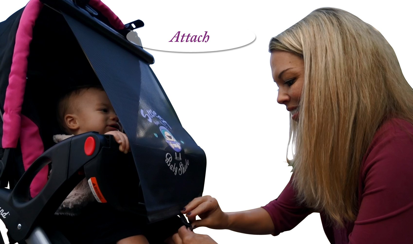 Stroller Sunshade - Sweet Baby Shade~TODDLER Deluxe by Sweet Baby Shade (Image #4)