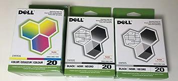 Amazon.com: 3 Combo Packs: Original Dell Series 20 (2 Negro ...