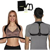 Posture Corrector Brace for Women, Men and Teens | Adjustable, Comfortable and Effective Clavicle Support, Posture Brace for Upper Back | Bonus Drawstring Backpack by Firbee