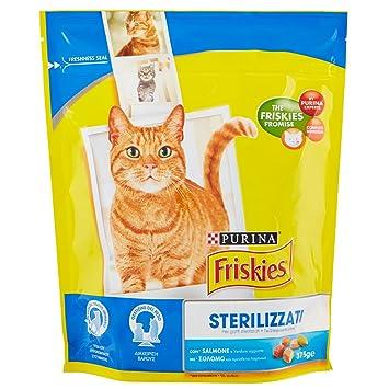 Friskies DC Gatos esterilizados Salmón y verduras Sup, 375 g,1 unidad: Amazon.es: Productos para mascotas