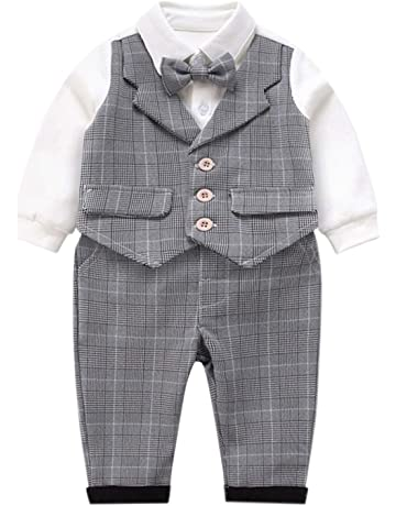 Sweet Kids Baby Boys Black Tails Coat Shirt Bow Tie Pants 5 Pc Tuxedo Suit 6-24M