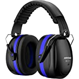 Mpow 035 Ear Defenders, SNR 34dB Noise Reduction Earmuffs with Soft Foam Ear Cups, Foldable Ear Defender for hearing protection, Shooting, Construction, Yard Work, Firework, Carry Bag included-Blue