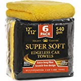 "Premium Microfiber Towels for Cars - Thick Professional Microfiber Cleaning Cloth for Cars - 6 Pack (12""x12"")"