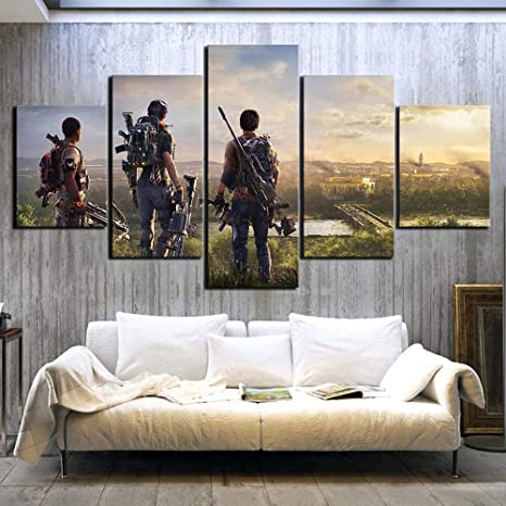 mmwin 5 Piezas HD Poster Pictures s The Division Scene Wall Art s: Amazon.es: Hogar