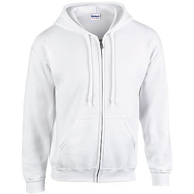 1beabad9 GILDAN Mens Heavy Blend Zipped Hooded Sweatshirt: Amazon.co.uk: Clothing