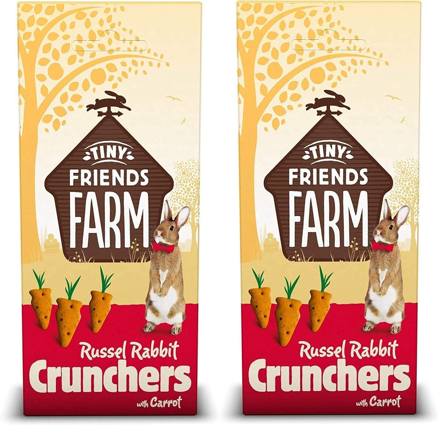 SupremePetfoods Tiny Friends Farm Russel Rabbit Crunchers with Carrot 4.2 oz - Pack of 2