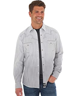 e766149e1c1 Wrangler Men s Rock 47 Long Sleeve Western Shirt at Amazon Men s ...