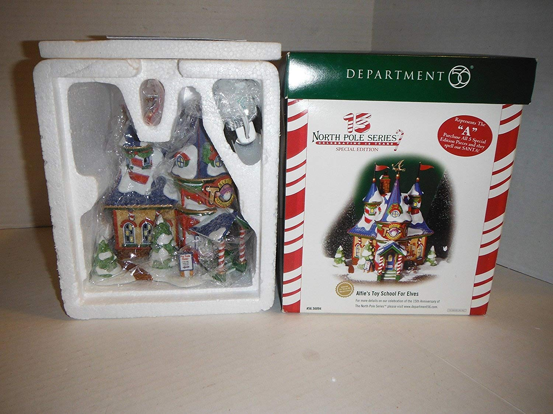 Department 56 North Pole Series ''Alfie's Toy School For Elves'' #56.56894