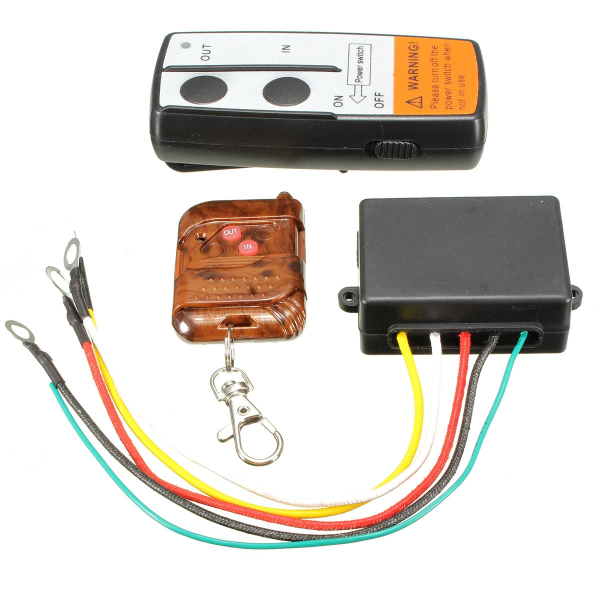 Wireless Remote Control - SODIAL(R) Electric Wireless Winch Remote Control Handset 12V Heavy Duty For Truck Atv SUV 060623