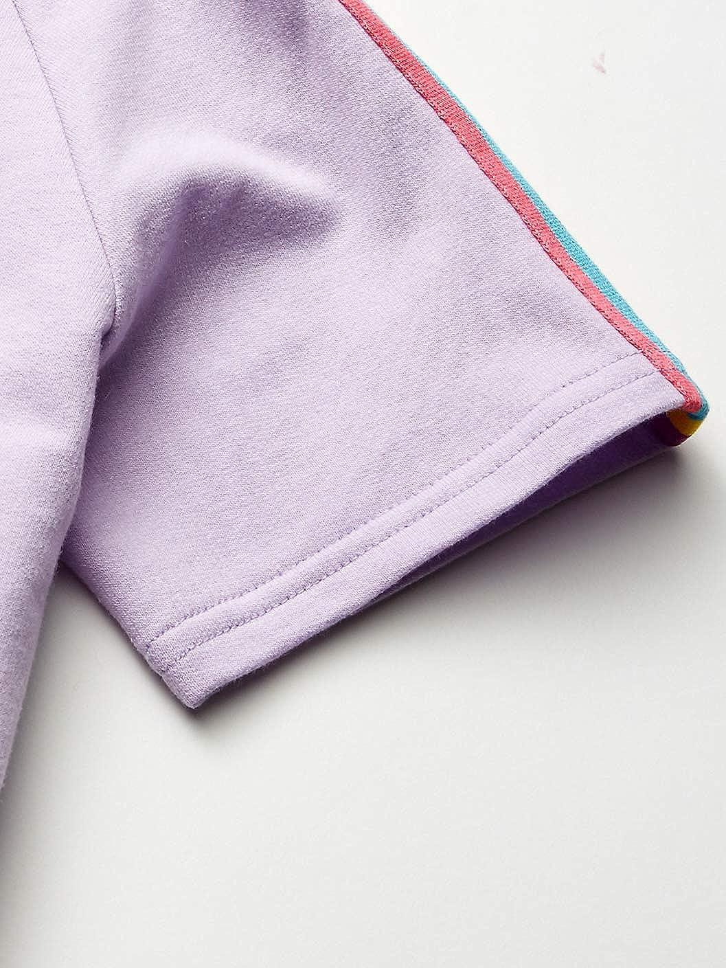 Jojo Siwa Girls Glitter Everywhere Pull Over Skimmer Hoodie Tee with Taping Hooded Sweatshirt