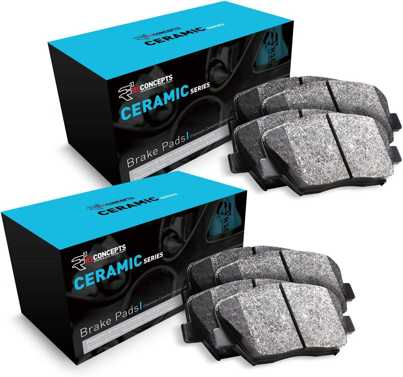 For 2015-2017 Nissan Murano Front and Rear R1 Ceramic Series Brake Pads