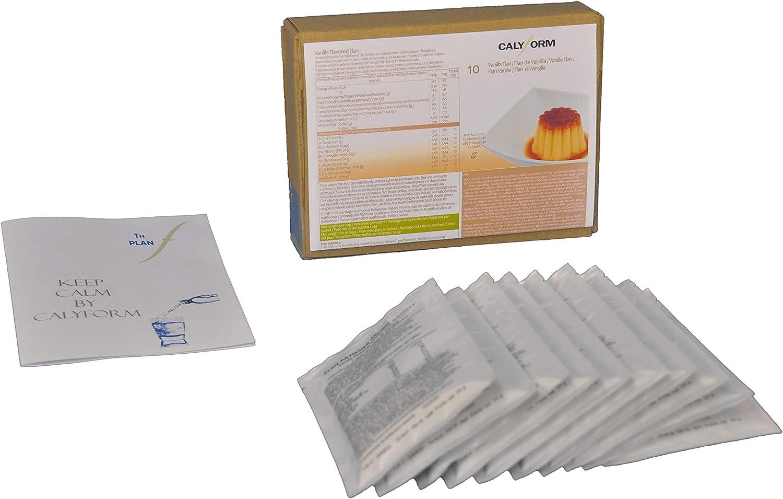 CALYFORM Flan Proteico para dieta sabor Vainilla saciante   Proteína en polvo para preparar flanes   Dieta proteica de calidad y aporte en aminoácidos ...