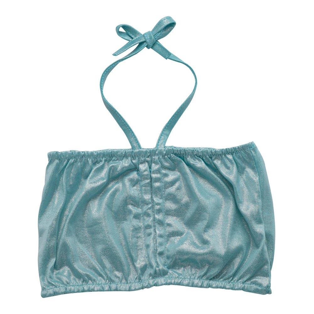 JFEELE Kids Little Girls 2 Piece Swimsuit with Mermaid Tail Swimwear Bikini Set - 4-5T,Blue by JFEELE (Image #2)