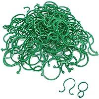 Dsaren 100 Pcs Clips de Soporte de Plantas Reutilizable Plastico Abrazadera Invernadero Jardineria para Asegurar y…