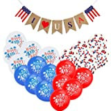 DmHirmg 4th of July Decorations,Patriotic Decorations Include 4th of July Balloon and Fourth of July Decorations,Independence