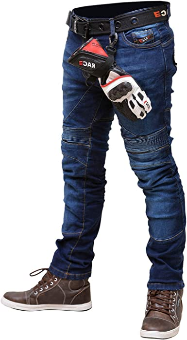 RAC3 Original Mens Motorbike Protective Armoured Lining Blue Denim Jeans Trousers