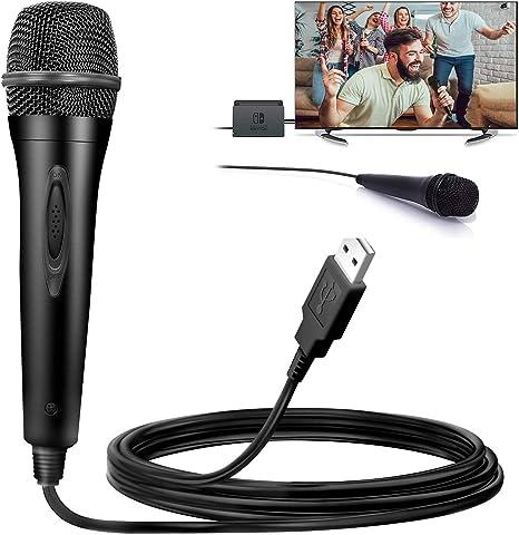 Micrófono USB para Nintendo Switch, Compatible con Juegos Karaoke ...