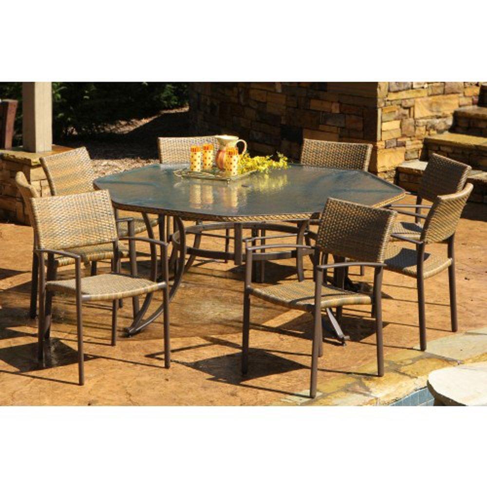 Amazon.com : Tortuga Maracay 9 Piece Outdoor Dining Set : Outdoor And Patio  Furniture Sets : Garden U0026 Outdoor
