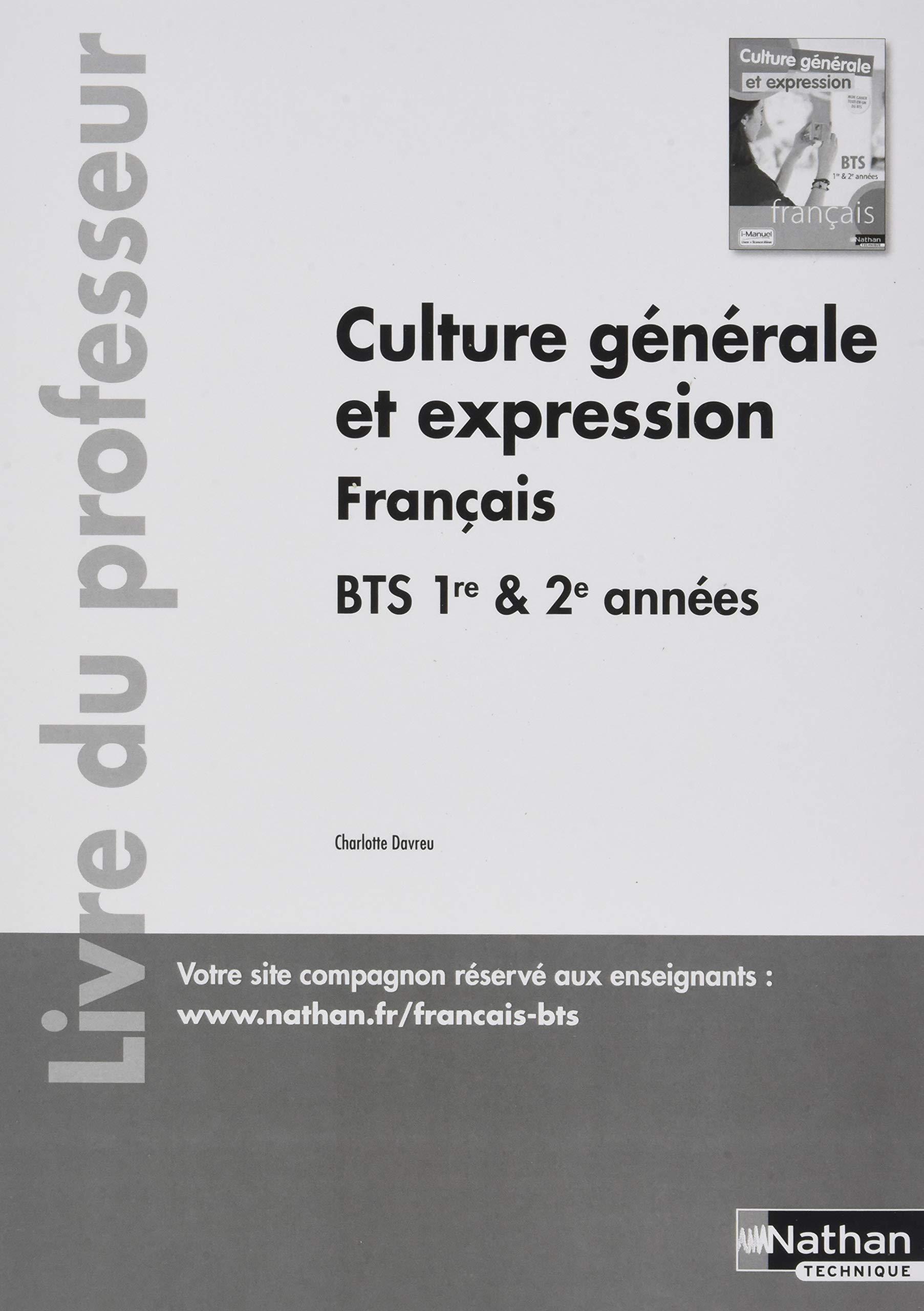 Culture Generale Et Expression Francais Bts 1re 2e Annee