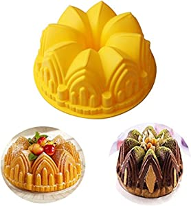 RoseFlower Silicone Molds Cartoon Castle Molds Silicone Ice Cube Trays Mini Ice Maker Molds for Soap, Cake, Bread, Cupcake, Cheesecake, Cornbread, Muffin, ecc